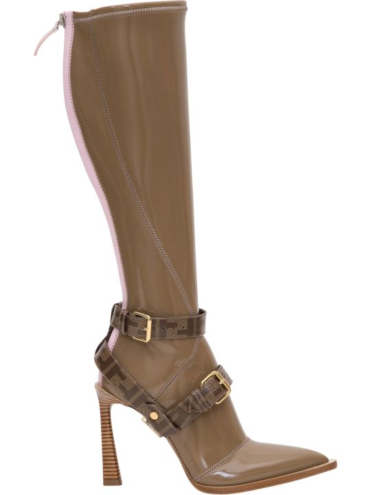 Fendi Fframe Pointed-toe Boots