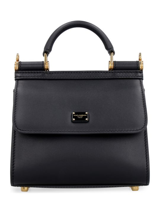Dolce & Gabbana Sicily 58 Leather Handbag