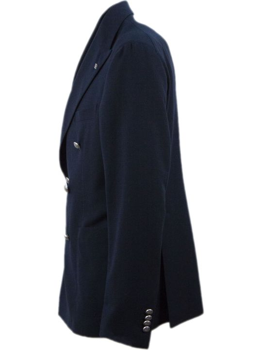 Tagliatore Blue Double-breasted Blazer