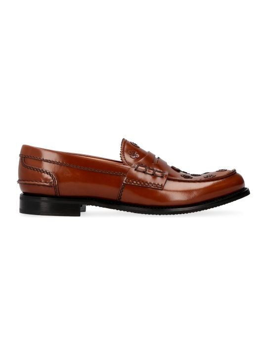 Church's Pembrey Flower Leather Loafers