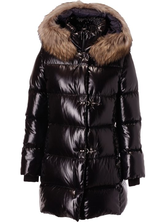 Fay Fur Detail Padded Coat