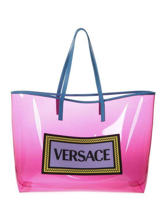Versace Pink Transparent Lucid Vinyl Bag
