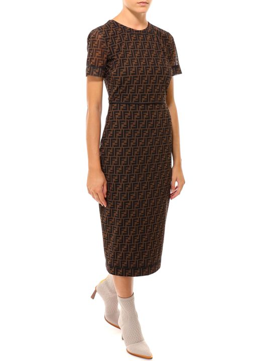 Fendi Abito Ff Net Dress