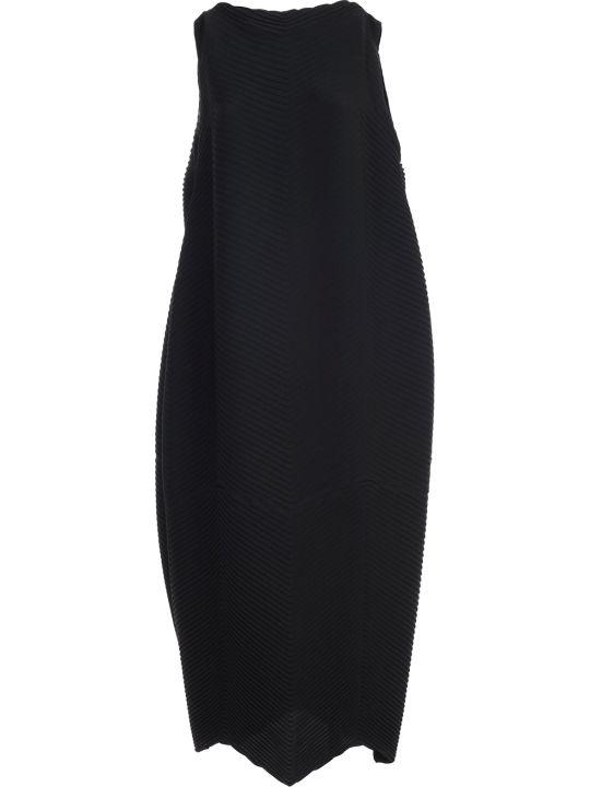 Issey Miyake Dress W/s Fantasy Black
