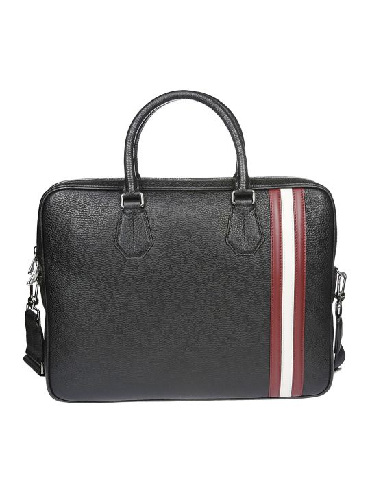 Bally Striped Detail Briefcase