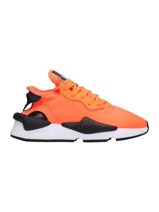 Y-3 Kaiwa Sneakers In Orange Leather