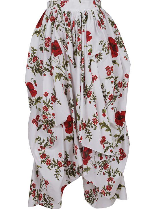 Alexander McQueen Floral Asymmetric Skirt