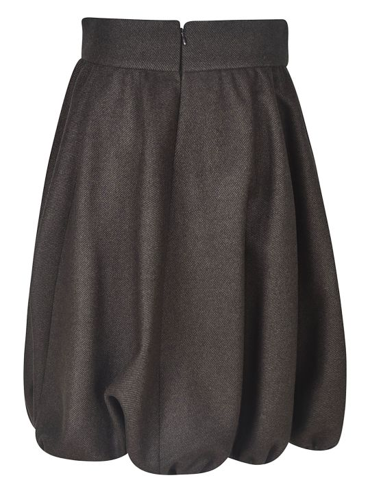 Nina Ricci Mid-length Ruffled Detail Skirt