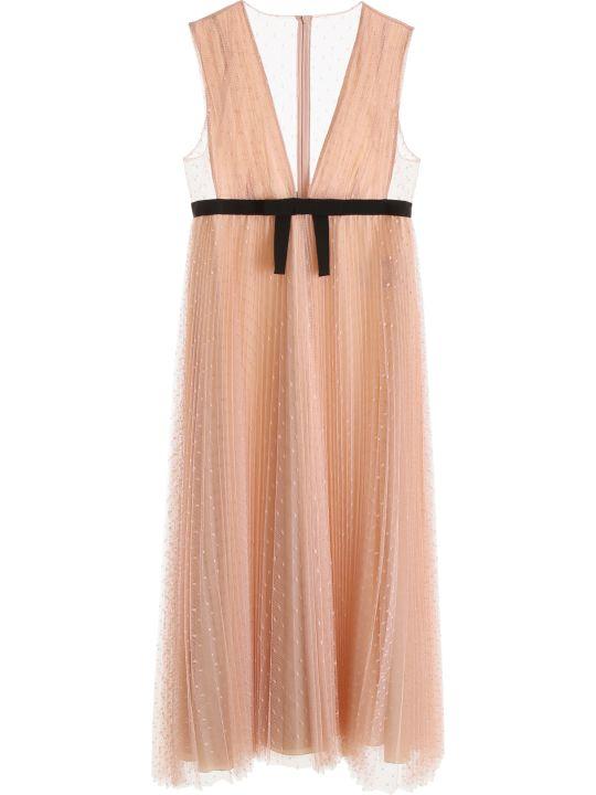 RED Valentino Long Plumetis Dress