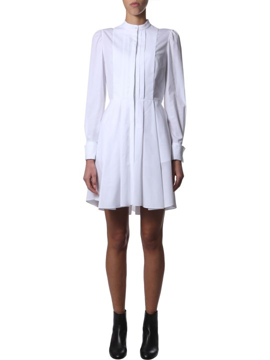 Alexander McQueen Short Cotton Poplin Dress