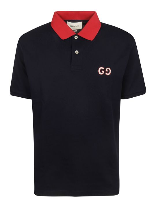 Gucci Gg Embroidery Polo Shirt