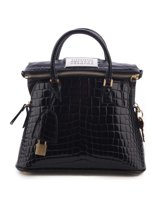 Maison Margiela 5ac Mini Croc-effect Leather Shoulder Bag