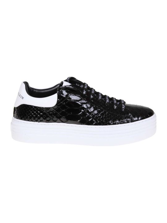 Philipp Plein Sneakers Lo-top Luxury In Black Leather