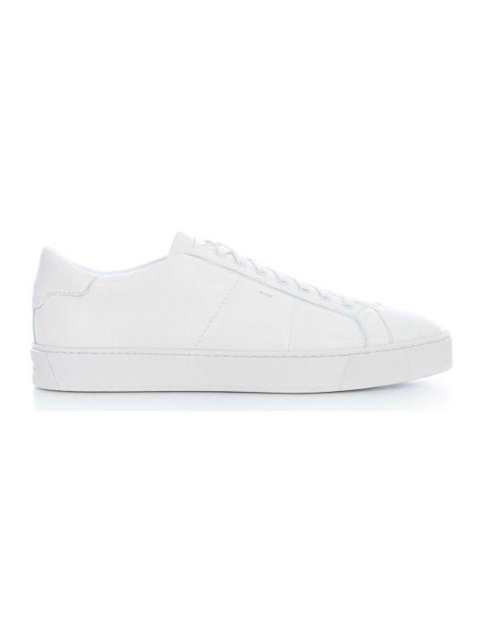 Santoni Leather Sneakers W/rubber Sole