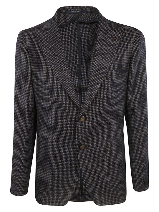 Tagliatore Weaved Pattern Blazer