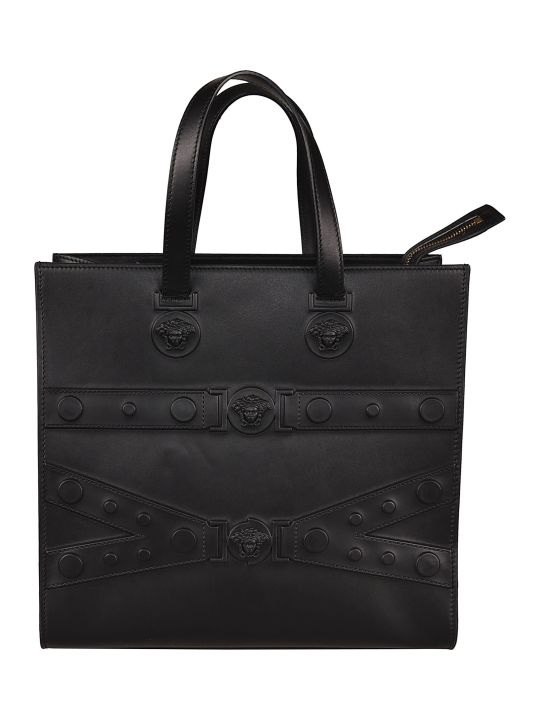 Versace Mudusa Strap Embossed Tote