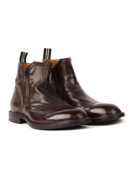 Green George Dark Brown Leather Ankle Boots