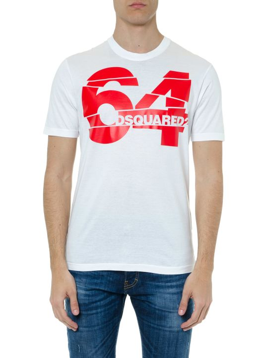 Dsquared2 64 Dsq2 White Cotton T-shirt