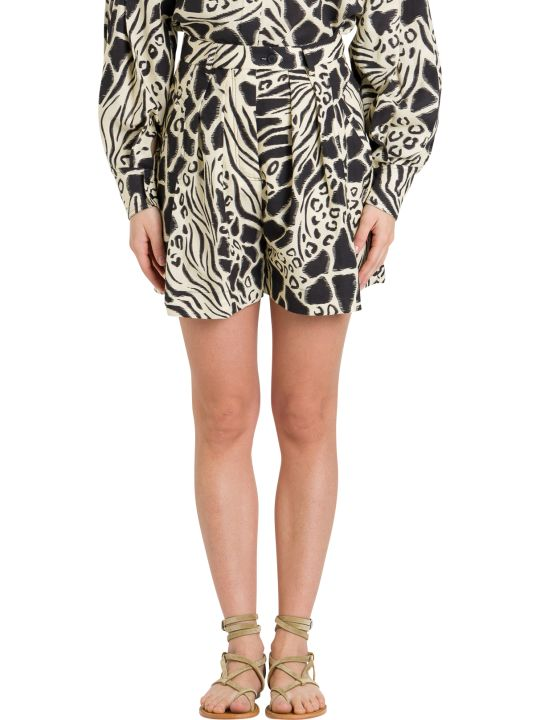 Alberta Ferretti Animalier Shorts
