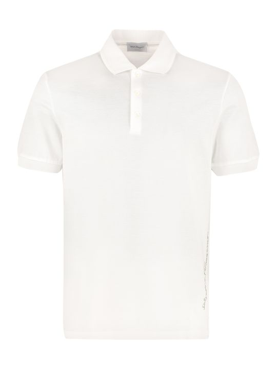 Salvatore Ferragamo Cotton Piqué Polo Shirt