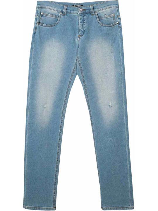 Balmain Cotton Skinny Jeans
