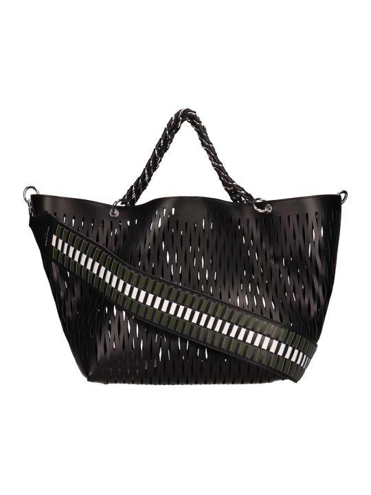 Sonia Rykiel Black Perforated Leather Bag