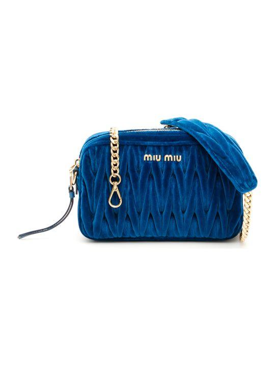 Miu Miu Matelassé Velvet Bag
