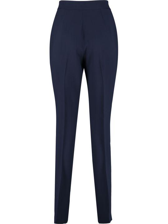 Alberta Ferretti High-waist Crêpe Trousers