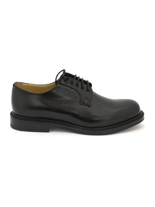 "Church's Black Smooth Leather ""shannon"" Lace-up Shoes."