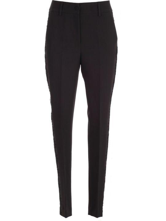 Blumarine Pants Skinny Lateral Lace Edge