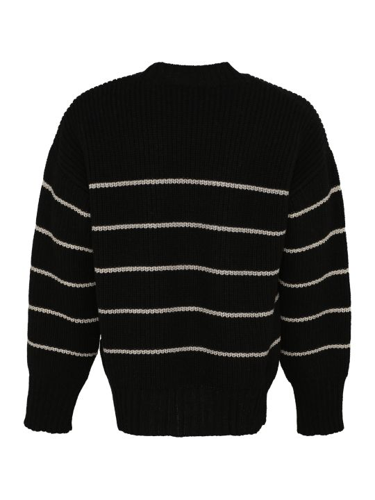 Ami Alexandre Mattiussi Virgin Wool Pullover With Embroidery