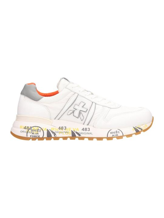 Premiata White Leather And Fabric Lander Sneakers