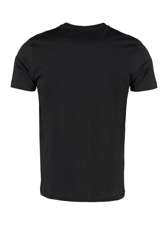 Fendi Cotton T-shirt With Ff Logo