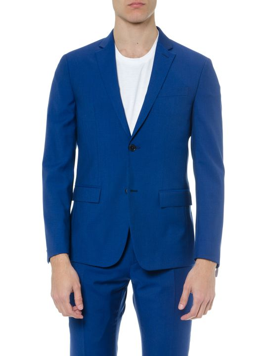 Calvin Klein Blue Virgin Wool Jacket