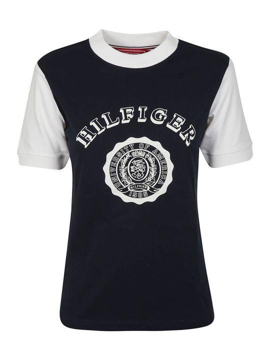 Tommy Hilfiger Contrast Sleeve Logo T-shirt