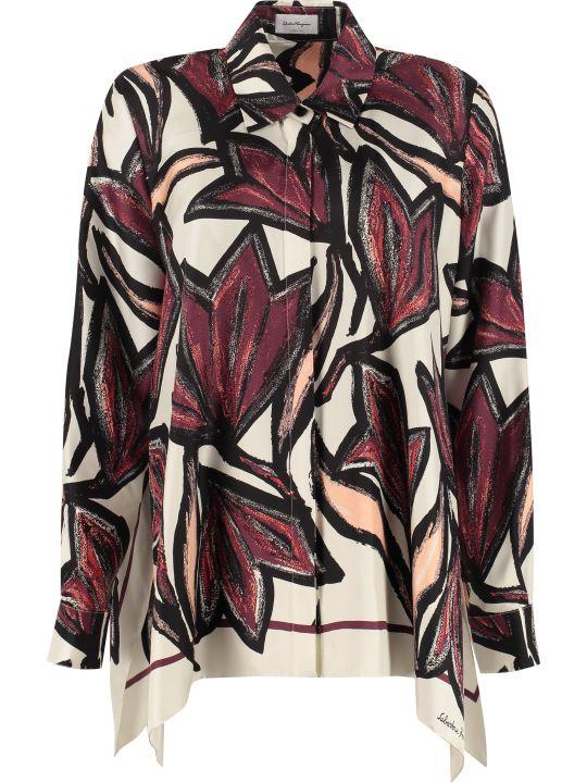 Salvatore Ferragamo Long-sleeved Silk Shirt