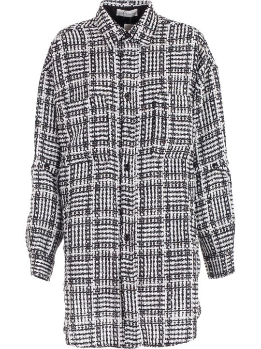 Faith Connexion Tweed Oversized Shirt