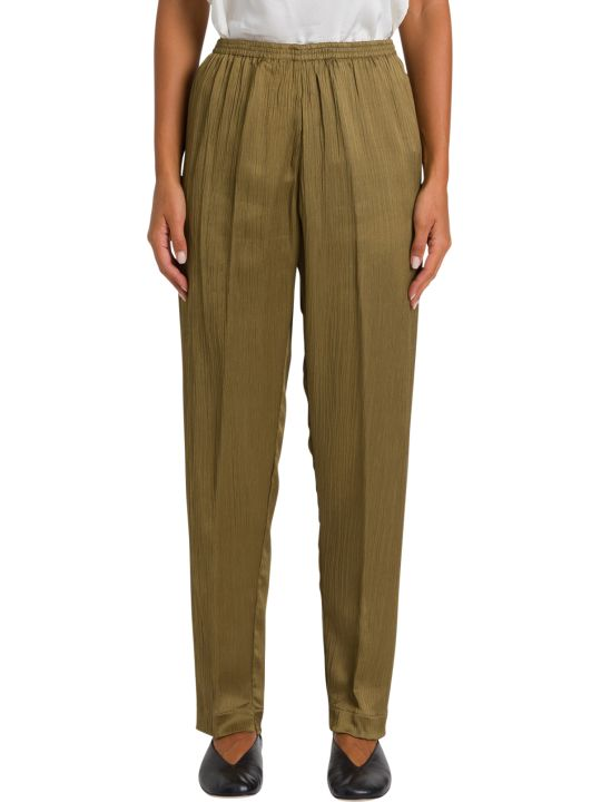 Forte_Forte Wrinkled Silk Trousers