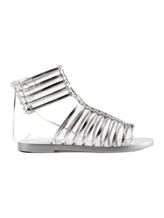 Alaia Logo Heel Gladiator Sandals