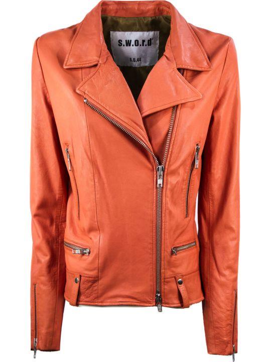 S.W.O.R.D 6.6.44 Orange Biker Jacket