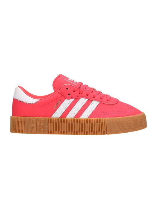 Adidas Fuchsia Leather Samba Rose W Sneakers