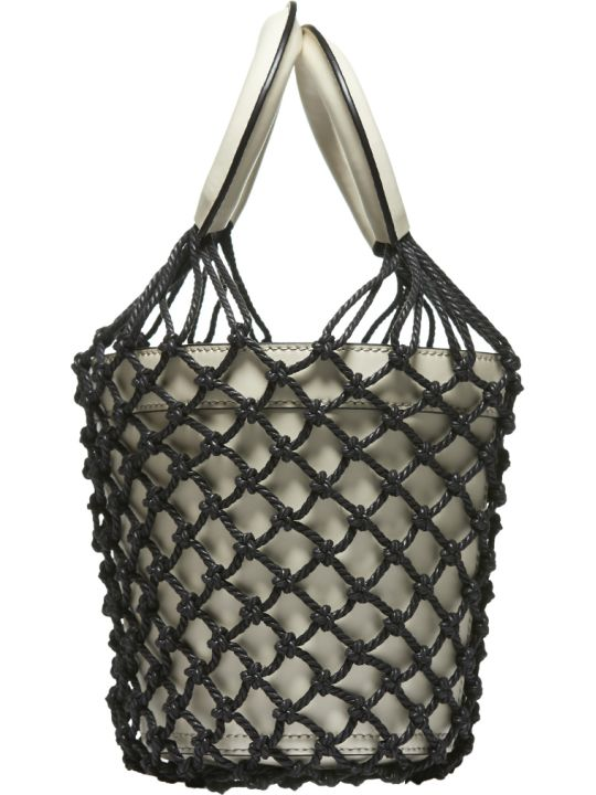 STAUD Fishnet Layered Bucket Bag