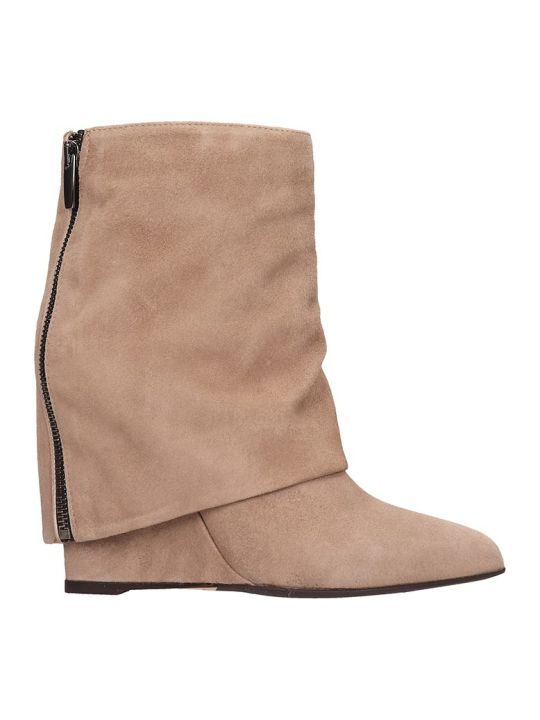 The Seller Ankle Boots In Powder Suede