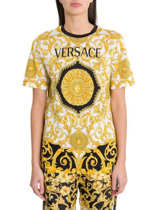 Versace Gold Hibiscus Tee