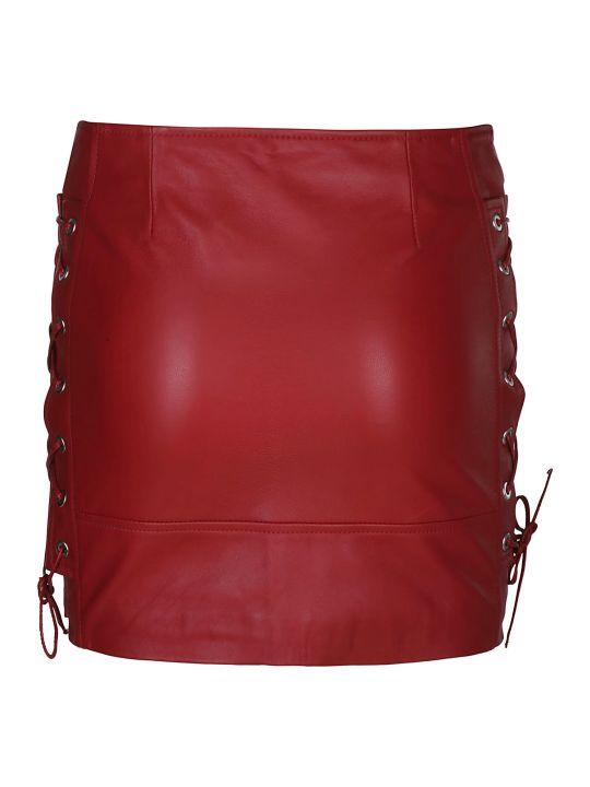 Manokhi Biker Style Mini Skirt