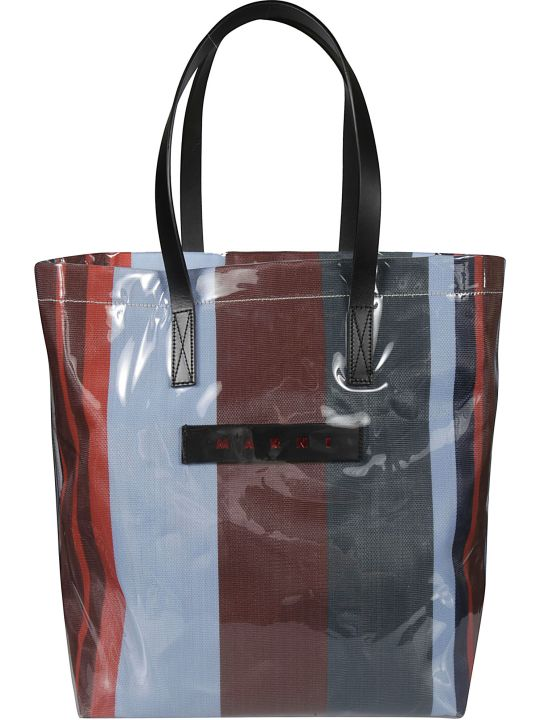 Marni Logo Patch Shopper Tote