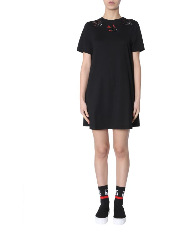 McQ Alexander McQueen Babydoll Embroidered Dress
