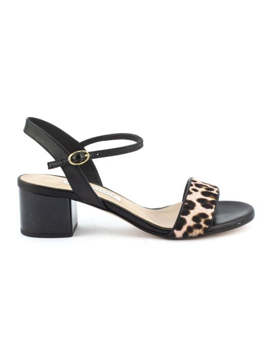 Roberto Festa Africa Sandal In Black Leather
