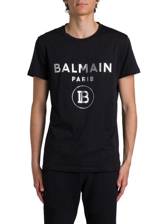 Balmain Silver Logo Tee