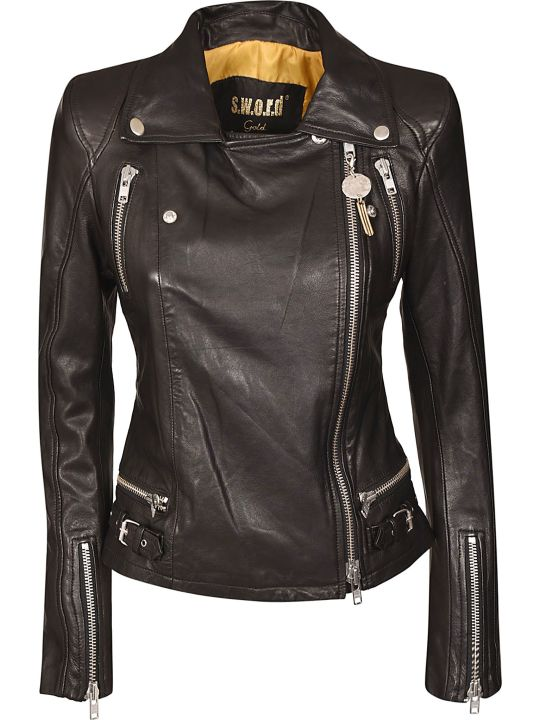 S.W.O.R.D 6.6.44 S.w.o.r.d. Zip-up Biker Jacket